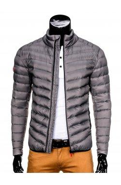 Куртка мужская демисезонная стеганая K299 - Серый