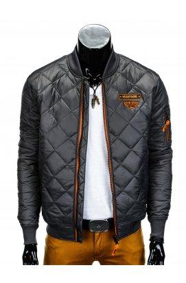 Куртка мужская демисезонная стеганая K317 - Серый