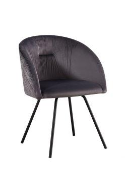 Кресло поворотное Sacramento черный/велюр серый - AMF - 546794