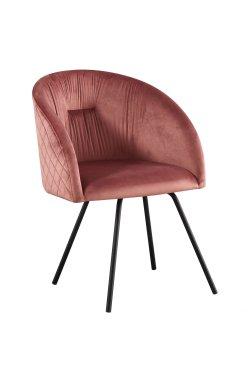 Кресло поворотное Sacramento черный/велюр розовый антик - AMF - 546795