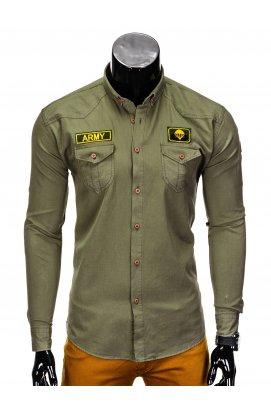 Рубашка мужская R361 - хаки