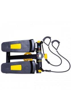 Степпер с эспандерами черн/желт USA Style LEXFIT, LAB-1008