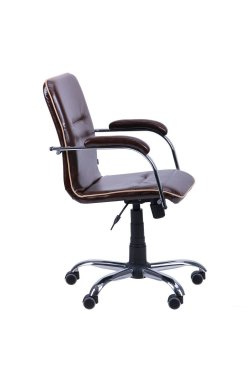 Кресло Самба-RC Хром Софт Мадрас дарк браун с кантом - AMF - 012913