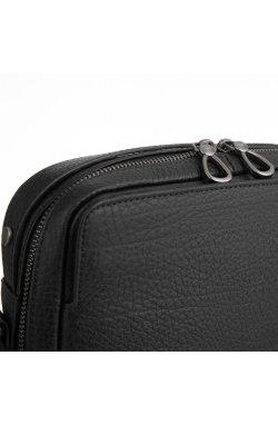 Кожаная сумка через плечо классическая Tavinchi S-006A - натуральная кожа, черный