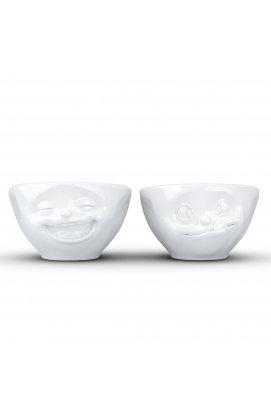 "Набор Tassen ""Laughing & Tasty"" из двух фарфоровых пиал (100 мл) - wos8144"