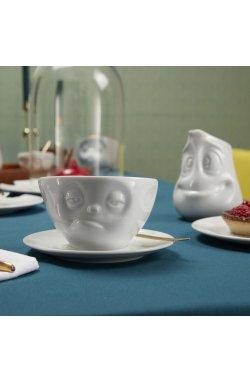 Чашка с блюдцем для кофе Tassen Озадачен (200 мл), фарфор - wos2687