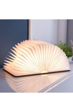 """Светильник-книга """"Smart Book"""" мини, натуральная кожа - wos8046"""