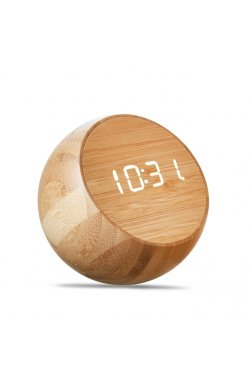 Часы Gingko Tumbler Click, бамбук - wos8841
