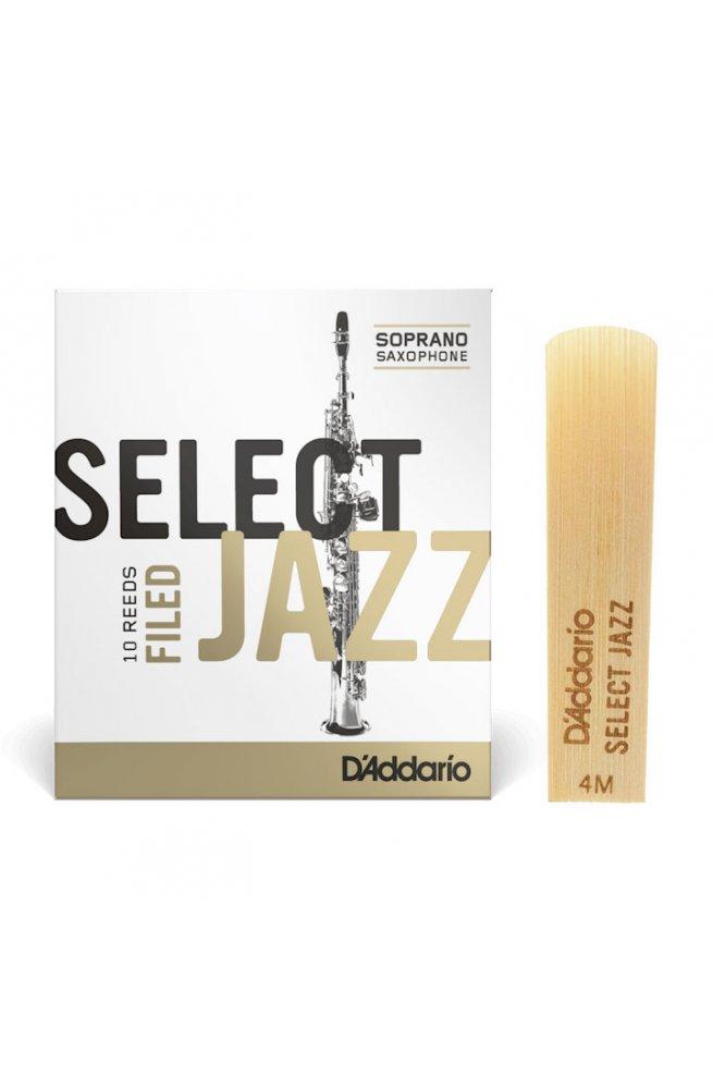 Трости для духового инструмента D'ADDARIO Select Jazz - Soprano Sax 4M (1шт)