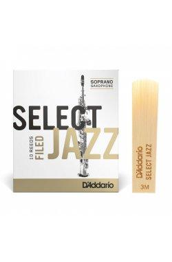 Трости для духового инструмента D'ADDARIO Select Jazz - Soprano Sax 3M (1шт)