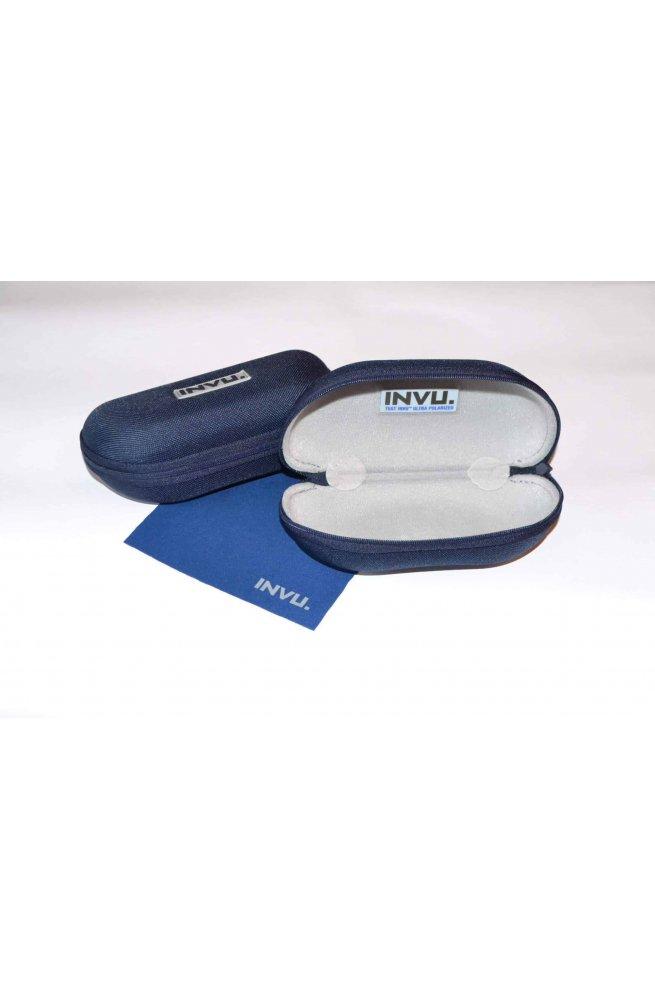 Мужские солнцезащитные очки INVU A2111B - прямоугольные, Цвет линз - серый