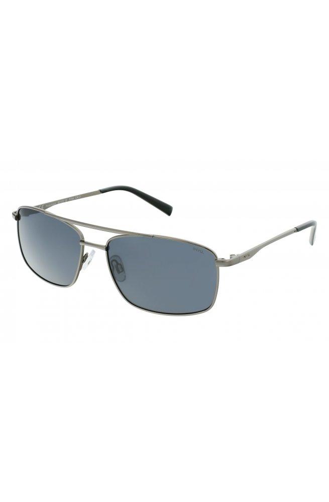 Мужские солнцезащитные очки INVU B1107B - прямоугольные, Цвет линз - серый