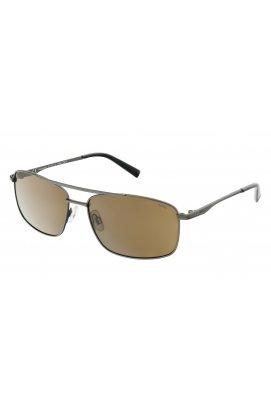 Мужские солнцезащитные очки INVU B1107C - прямоугольные, Цвет линз - коричневый