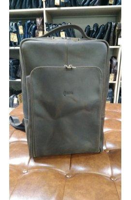 """Рюкзак для ноутбука 15"""" дюймов RC-1240-4lx в коричневой коже крейзи хорс Коричневый"""