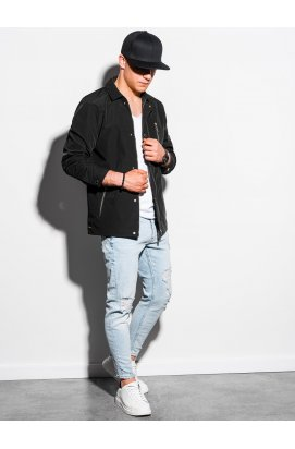 Мужская куртка демисезонная стеганая C482 - чёрный - Ombre