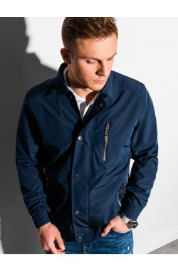 Мужская куртка демисезонная стеганая C482 - темно-синий - Ombre