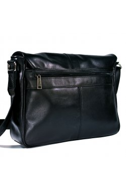 Кожаная мужская сумка через плечо с клапаном TARWA GA-1046-3md Черный