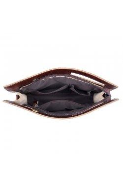 Кожаная сумка-папка, портфолио, органайзер, мессенджер малый размер John McDee A0011XS Коричневый