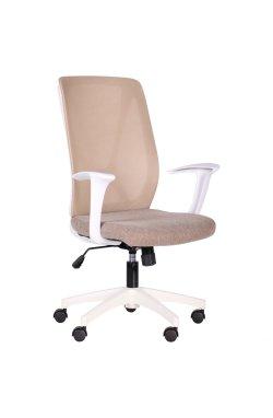 Кресло Nickel White сиденье Сидней-09/спинка Сетка SL-02 беж - AMF - 297179