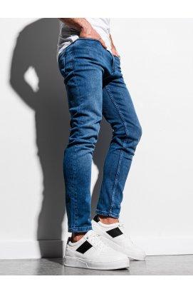 Чоловічі джинсові штани P1007 - синій - Ombre