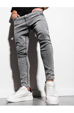 Мужские джинсовые штаны P923 - серый - Ombre