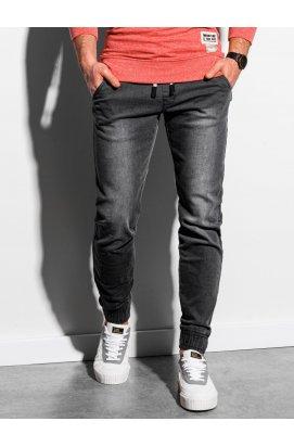 Чоловічі штани джинсові джоггер P907 - чорний - Ombre