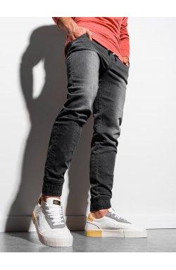Мужские брюки джинсовые джоггеры P907 - чёрный - Ombre