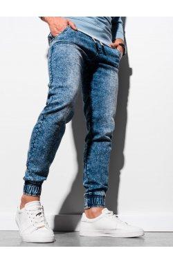 Мужские брюки джинсовые джоггеры P907 - светло-синий - Ombre