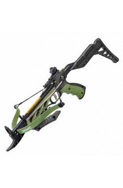 Арбалет пистолетного типа Man Kung TCS1 Alligator (длина: 508мм, сила натяжения: 18кг), зеленый