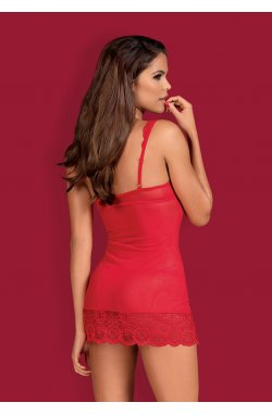 853-CHE-3 сорочка червона Obsessive (S/M)
