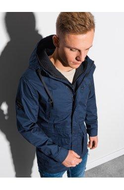 Мужская куртка демисезонная стеганая C456 - темно-синий - Ombre