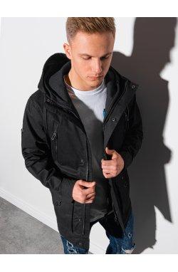 Мужская куртка демисезонная стеганая C456 - чёрный - Ombre