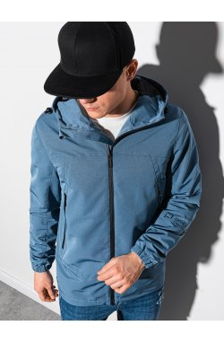 Мужская куртка демисезонная стеганая C478 - синий - Ombre