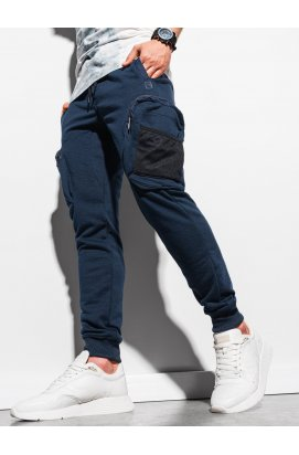 Чоловічі спортивні штани P918 - темно-синій - Ombre