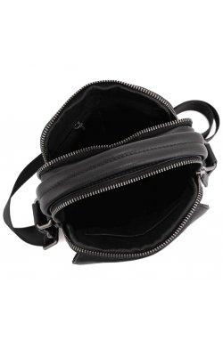 Кожаная сумка через плечо в черном цвете Tavinchi TV-009A - натуральная кожа, черный