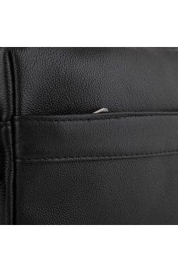 Мужская сумка через плечо черная Tiding Bag NM23-8017A - натуральная кожа, черный
