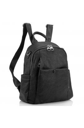 Кожаный женский рюкзак Olivia Leather NWBP27-1240A - натуральная кожа, черный