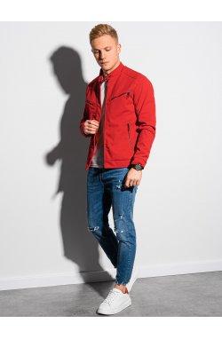 Мужская куртка демисезонная стеганая C480 - красный - Ombre