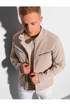 Мужская куртка демисезонная стеганая C480 - бежевый - Ombre