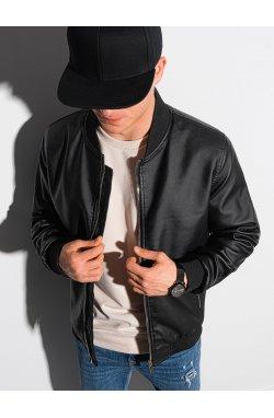 Мужская мотоциклетная куртка C484 - чёрная - Ombre