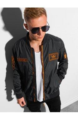 Мужская куртка демисезонная стеганая C485 - чёрный - Ombre