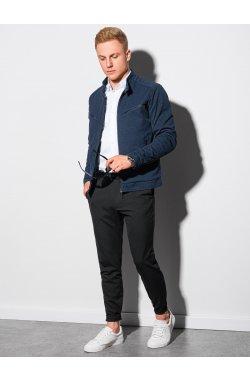 Мужская куртка демисезонная стеганая C480 - темно-синий - Ombre