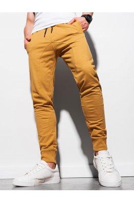Чоловічі спортивні штани P952 - гірчичний - Ombre