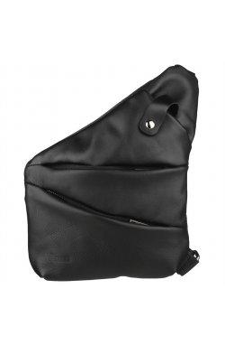 Мужская сумка-слинг через плечо микс канваса и кожи GAc-6402-3md черная бренд TARWA Черный