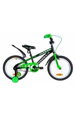 """Детский Велосипед Велосипед 18"""" Formula WILD 2021 (черно-зеленый с белым)"""