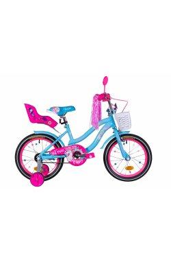 """Детский Велосипед Велосипед 16"""" Formula FLOWER PREMIUM 2021 (голубой)"""