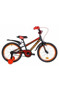 """Детский Велосипед Велосипед 18"""" Formula SPORT 2021 (черно-красный с оранжевым (м))"""