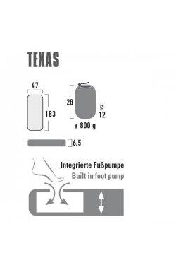 Коврик надувной High Peak Texas 6.5 cm Dark Grey (41003)