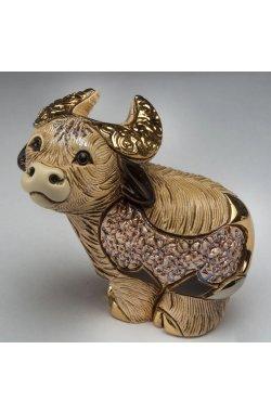 Фигурка/статуэтка De Rosa Rinconada Бычок Золотистый (7x8x6) Dr429m-f-74