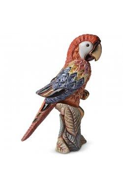 Фигурка/статуэтка De Rosa Rinconada Попугай Красный с розовым (10x14x7) Dr228r-f-37